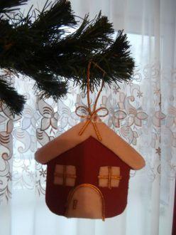 Новогодняя игрушка «Сказочный домик» из драповой ткани. Мастер-класс с пошаговыми фото