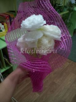 Мастер-класс белые розы из салфеток своими руками