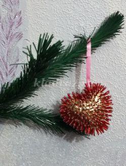 Мастер класс по изготовлению новогодней игрушки «Сердечко»