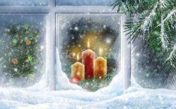Новогоднее оформление окон в детском саду