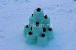 Оформление участка детского сада своими руками в зимний период: