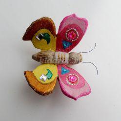 Мастер-класс по рукоделию: «Ёлочная игрушка – бабочка»