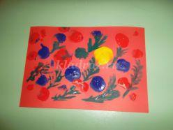 Конспект занятия по рисованию в технике печатания воздушными шарами