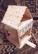 Изготовление кормушки «Чик-чирик» из деревянных шпателей. Мастер - класс с пошаговым фото