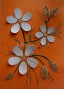 Мастер-класс «Цветы» из берёсты с элементами рисования