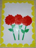 Аппликация. Мастер-класс «Цветочки» в детском саду для детей 4-5 лет