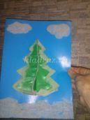 «Заснеженная ёлочка» новогодняя открытка своими руками. Мастер-класс с пошаговыми фото