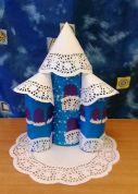 Замок Снежной Королевы из бумаги своими руками для детей 5-7 лет. Мастер-класс с пошаговым фото