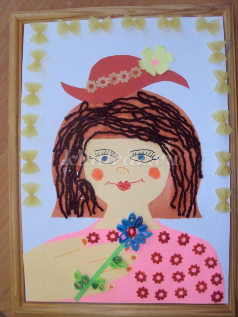 Портрет мамы своими руками