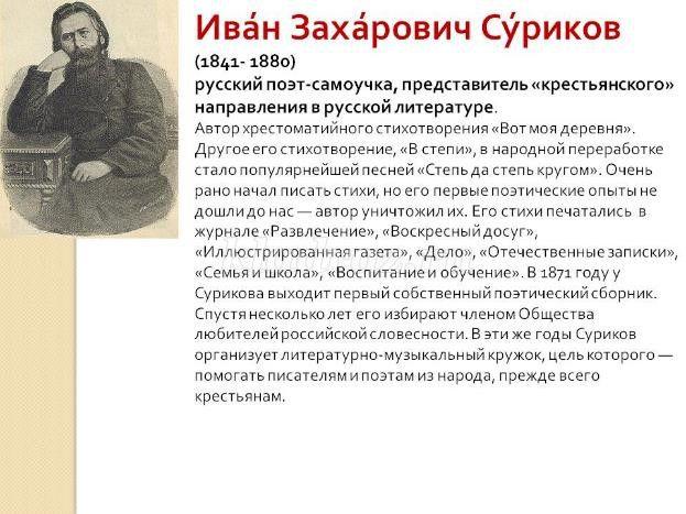 иван суриков биография фото