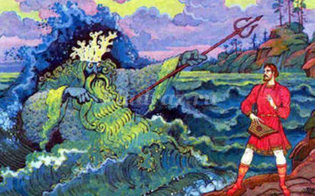 рисунок к былине садко раскраска