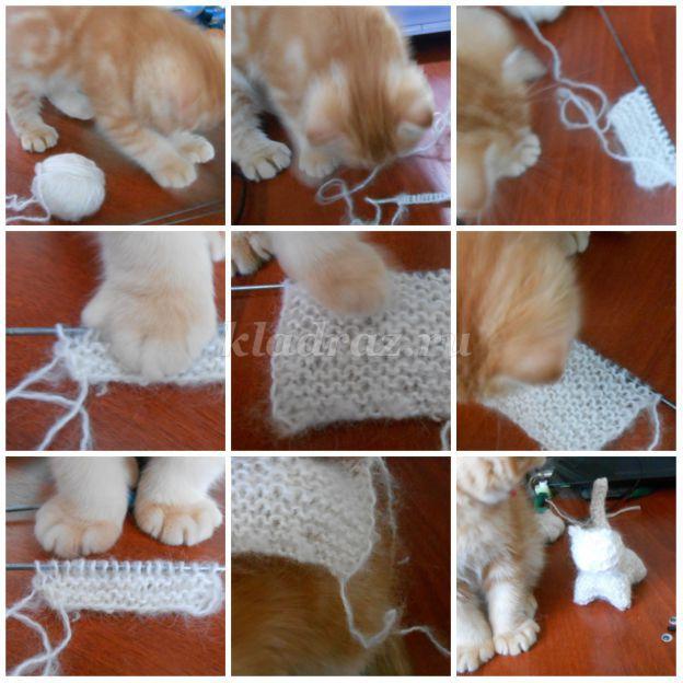 Вязание кошек спицами 95