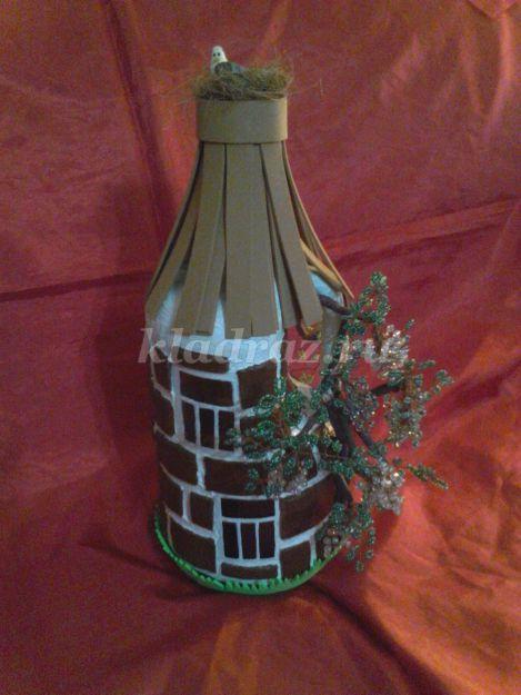 Декорирование стеклянных бутылок своими руками мастер класс
