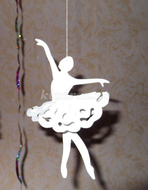 Снежинка балерина из бумаги своими руками фото фото 58