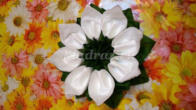 Делаем красивые цветы из бумажных салфеток - Мир Позитива 33