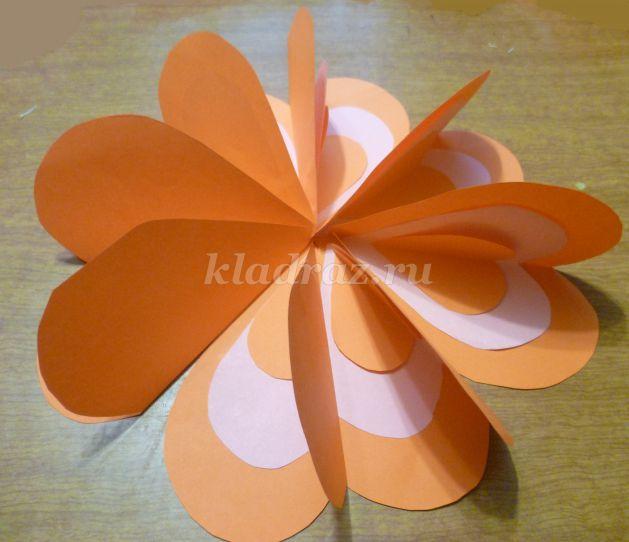 Оформление одного цветка своими руками