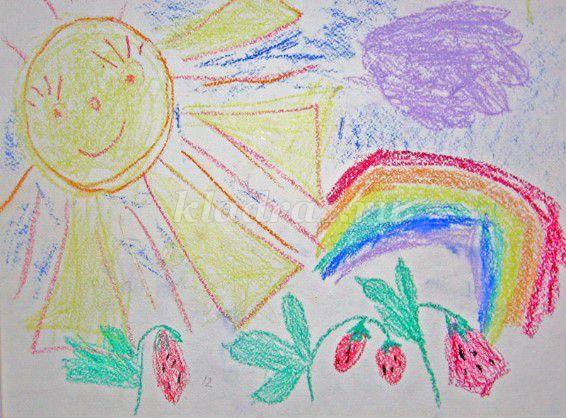 Детские рисунки про лето в детский сад
