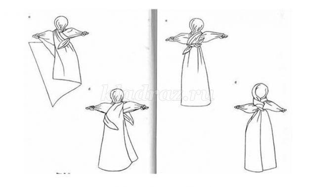 Кукла из платка своими руками мастер класс 88