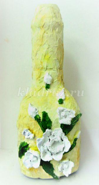 Роспись гуашью бутылок