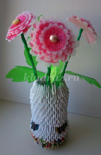 Цветы своими руками из подручных материалов фото 109