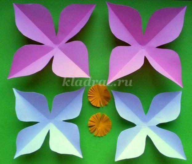 Аппликации цветы из цветной бумаги своими руками 96