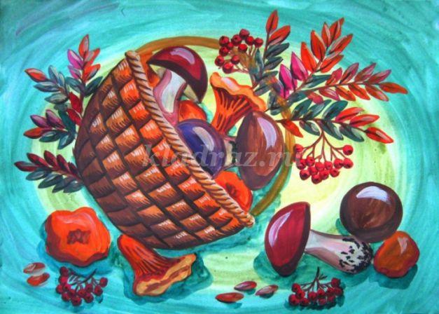 Рисование поэтапное гуашью одним цветом 88