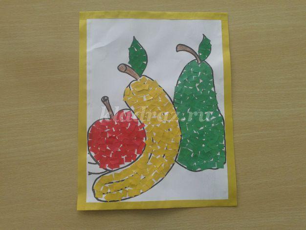 Аппликация фрукты для детей 4 лет