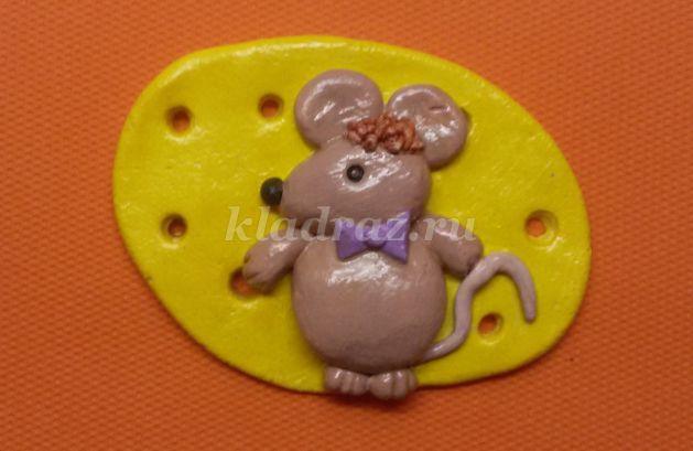 Мышка из теста мастер класс