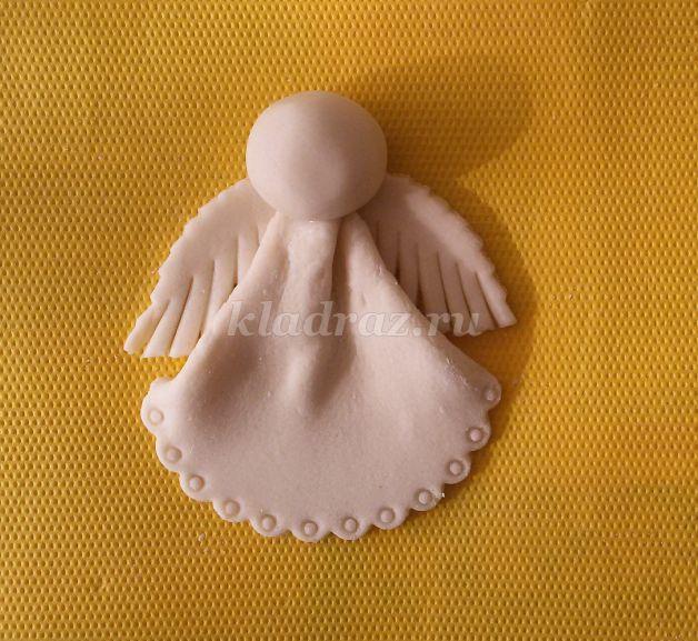 Поделка ангел из солёного теста 75