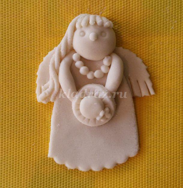 Поделки из солёного теста ангелочек