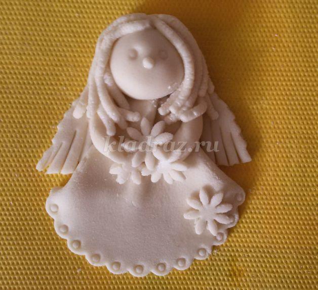 Поделка ангел из солёного теста 88