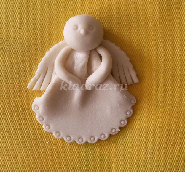Поделка ангел из солёного теста 70