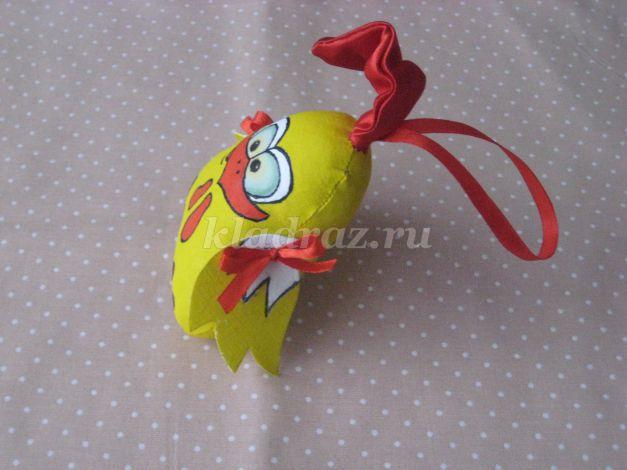 Игрушка петушок из ткани