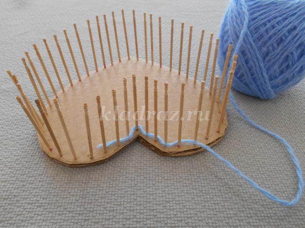 Шкатулка своими руками из зубочисток и ниток с крышкой 18