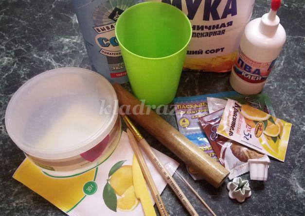 Тесто для лепки своими руками рецепт для детей с лимонной кислотой