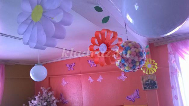 Цветы на потолке своими руками 46