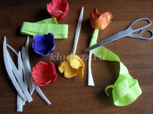 Цветы своими руками из упаковки от яиц своими руками 77