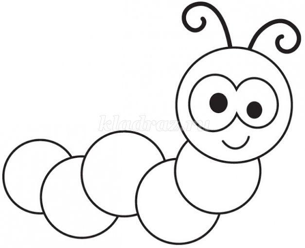 картинки для детей гусеница