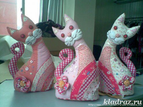 Поделки игрушки из ткани своими руками